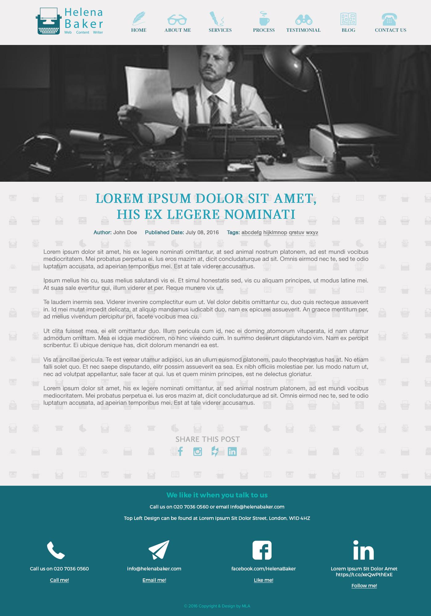 helena baker website design