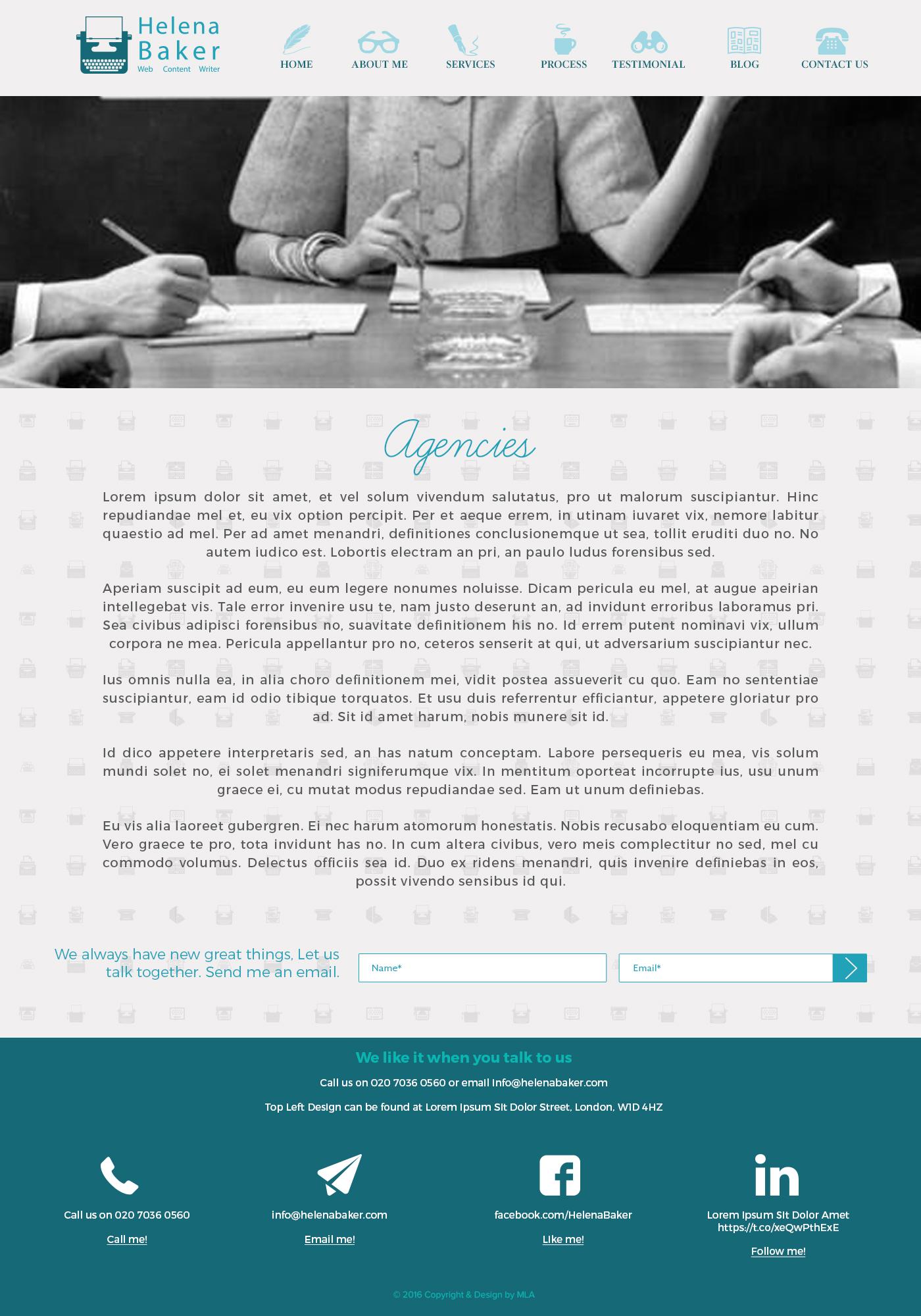 helena baker web design
