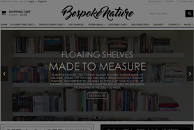 bespoke nature homepage web design