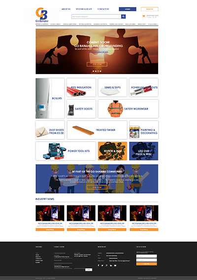 Go Banana homepage web design
