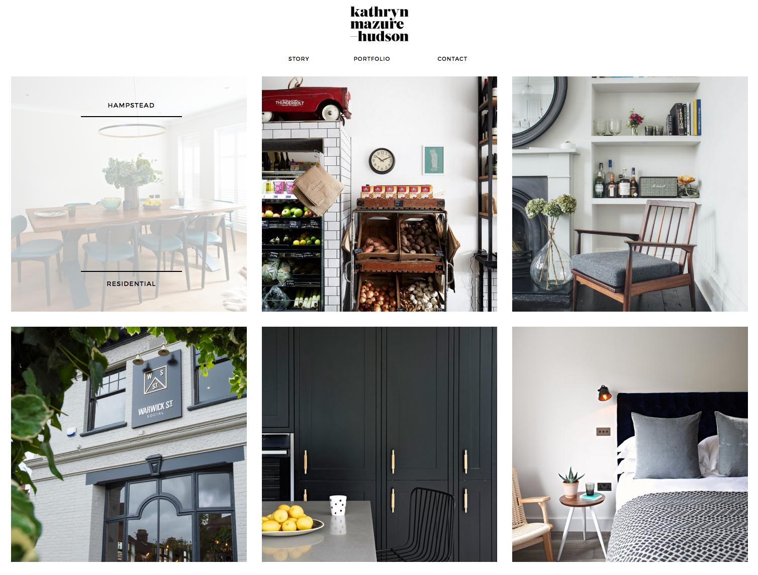 KMH portfolio page Design