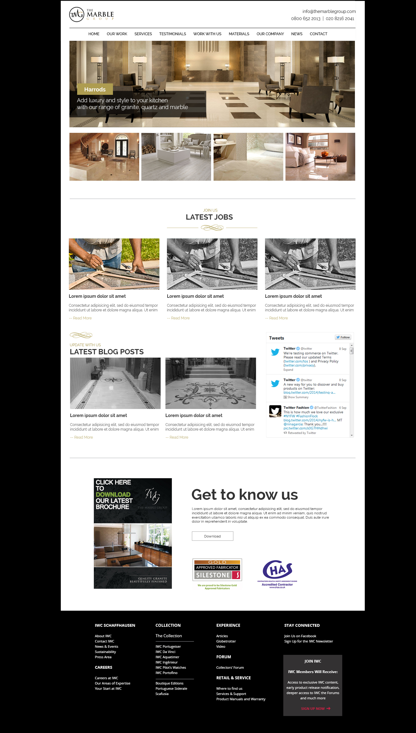 marble group homepage design