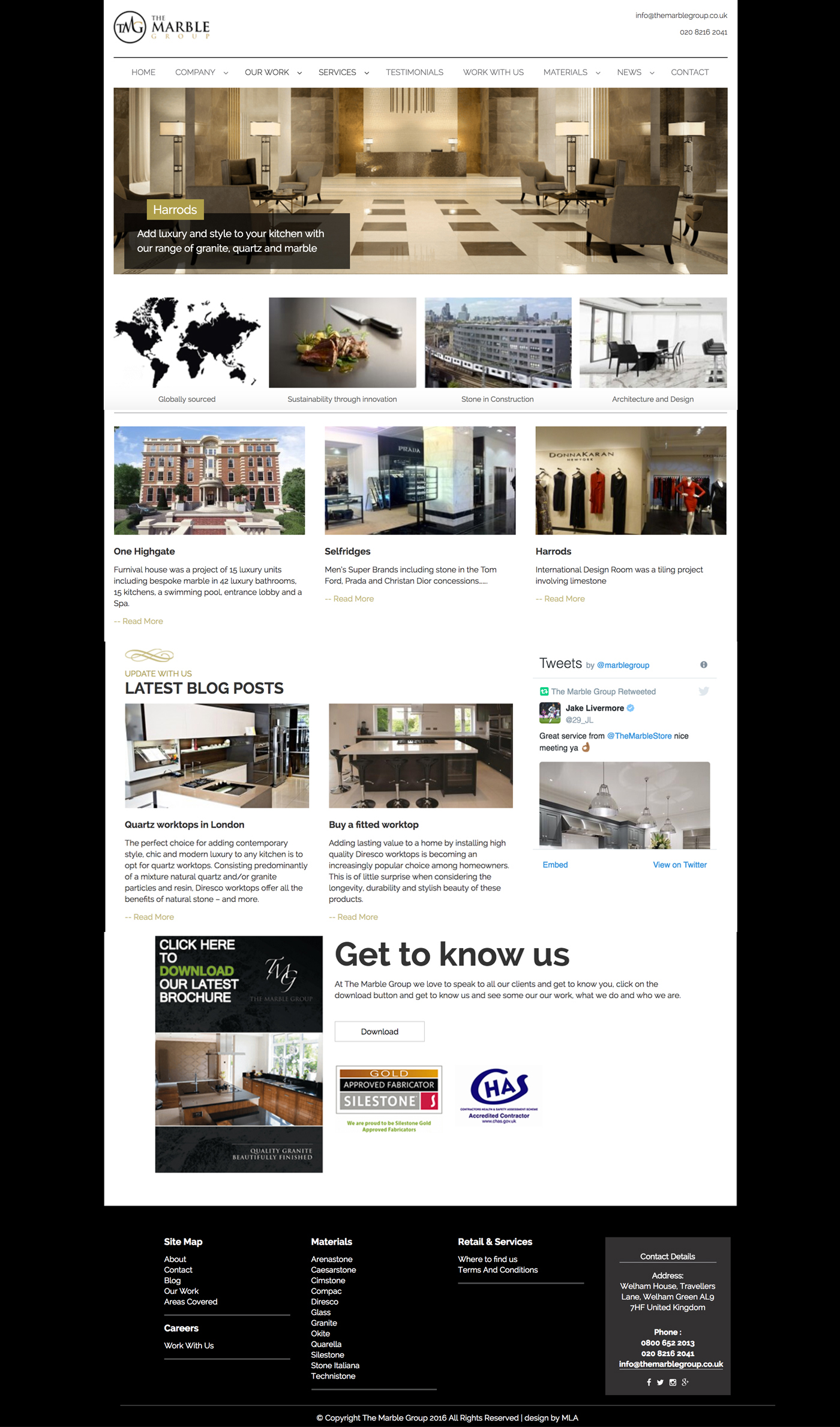 marble group homepage web design