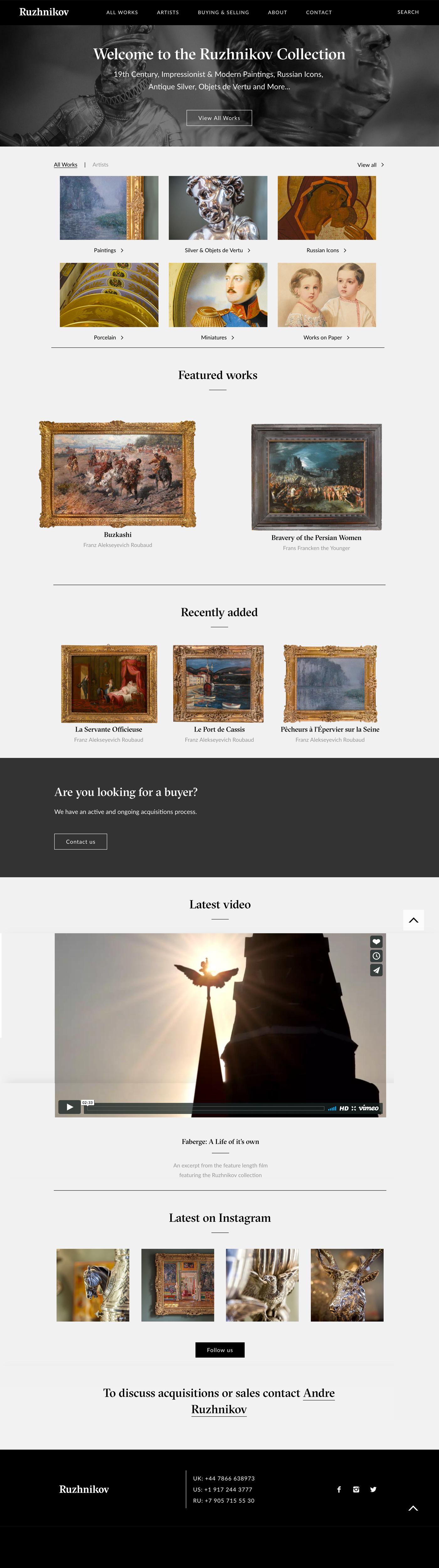ruzhnikov website design
