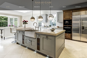 Sarah gare interiors homepage screenshot