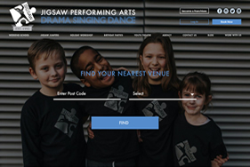 Jigsaw Arts home featured image - Web design London - web design agency london