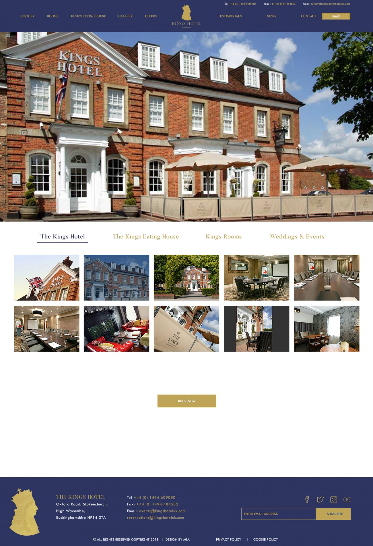 The Kings Hotel gallery page- Web design London - web design agency london