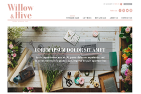 Willow&Hive homepage design1
