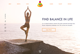 Yoga Rocks homepage featured image - Website design London - web design agency london