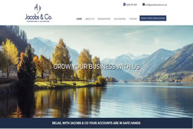 jacobs and co homepage screenshot - Website design London - web design agency london