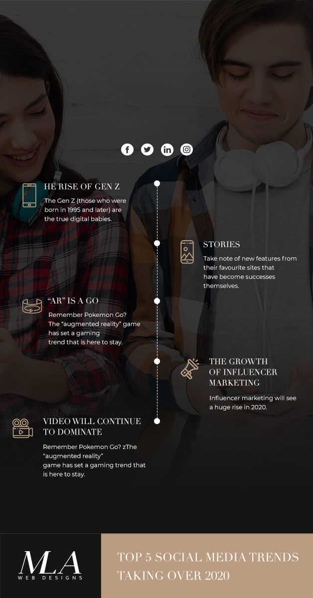 social media trends taking over 2020 - web design london