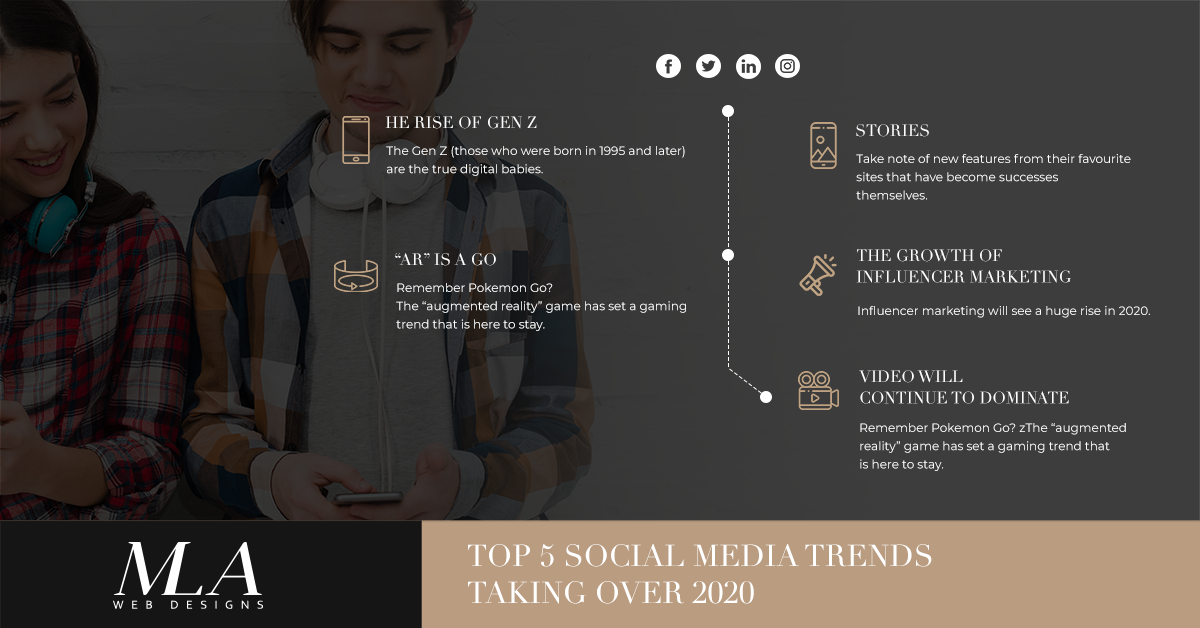 social media trends taking over 2020 - web design london